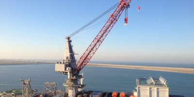 Replacement of load moment monitoring system on the Pioneering Spirit