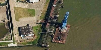 Ombouw en upgraden drijvende grijperkraan twaalf ton van Nieuwe Waterweg Silo
