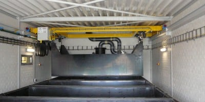 Design, delivery, assembly and commissioning of a pickling crane