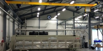 Design and delivery of an automatic pickling crane for powder coating installation at Knipping