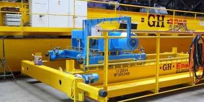 New overhead crane for waste processing company HVC
